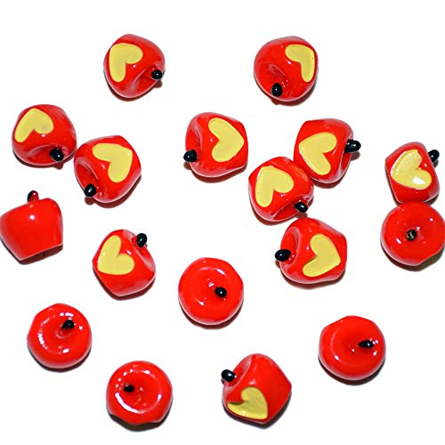 AMOBESTER Sime Charms Apples 30Psc Decorative Slime Beads For Arts Crafts Ornament -