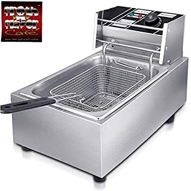 FROTH & FLAVOR Stainless Steel Electric Deep Fryer (Silver) 6 Litre with Copper Element 8