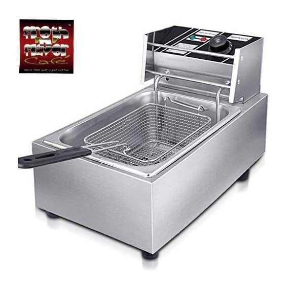 FROTH & FLAVOR Stainless Steel Electric Deep Fryer (Silver) 6 Litre with Copper Element 1