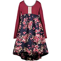 Truly Me Soft Knit Top & Beautiful Floral Chiffon Bottom Dress 7-16