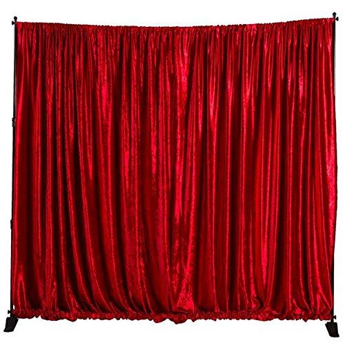 (Shindigz Red Velvet Fabric Background with Rod Pocket)