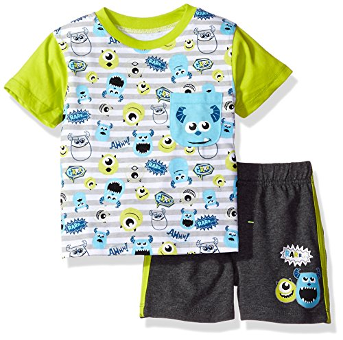 Disney Baby Boys' 2 Piece Monsters Inc. French Terry Short Set, Blue, 12m (Baby Monsters Inc)