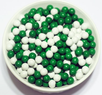 Scott's Cakes St. Patrick's Day Mix Sixlets in a 1 Pound Plastic Deli Container