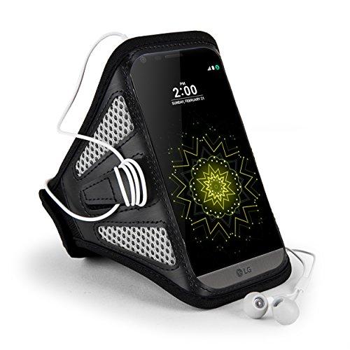 Black Mesh Sport Armband (Jlyifan Premium Mesh Running Sport GYM Armband case for LG V20 / LG 5X / X Power / Motorola Moto M / Google Pixel XL / Blackberry DTEK60 / HTC Bolt (Gray/Black))