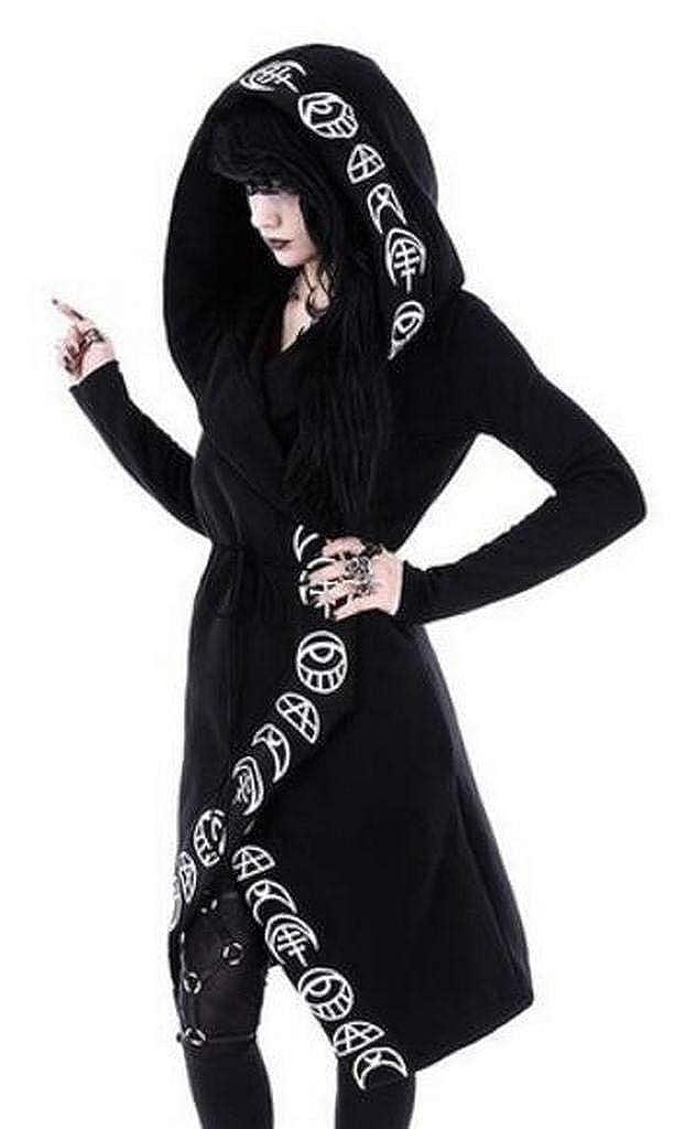 Jofemuho Womens Steampunk Hooded Long Sleeve Plus Size Pullover Hoodies Sweatshirt