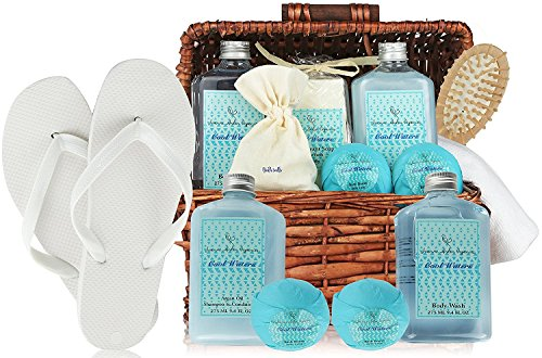 Deluxe Spa Basket Cool Waters Gift Baskets For Men