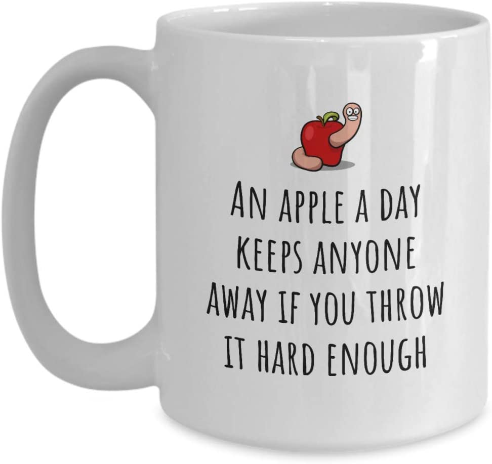 Dietitian Gift - Nutritionist Gift - Funny Dietetics Mug - An Apple a Day Keeps Anyone Away