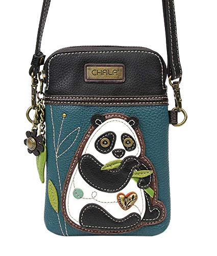 Chala Crossbody Cell Phone Purse - Women PU Leather Multicolor Handbag with Adjustable Strap - NewPanda Turquoise
