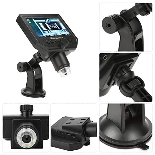 - Dalab Portable 4.3 G600 1-600X Magnifier 1080P LCD Digital Microscope Magnifier Camera Al-Alloy Stent 100-250V - (Color: UK Plug)