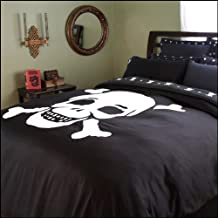 Sin in Linen Jolly Roger Skull Duvet Cover, King