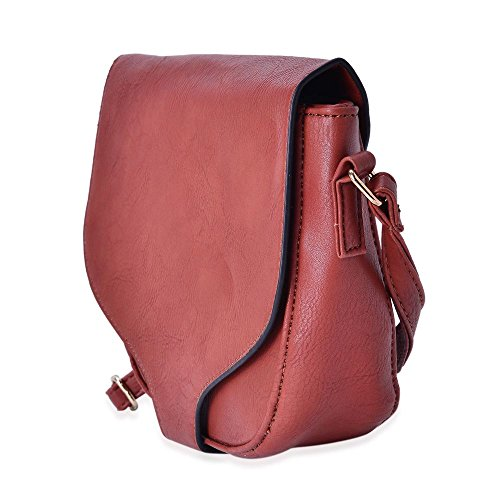 Saddle Chocolate Bag with TJC Strap Cm Crossbody Adjustable 20x17x6 Shoulder wOSqSAH5