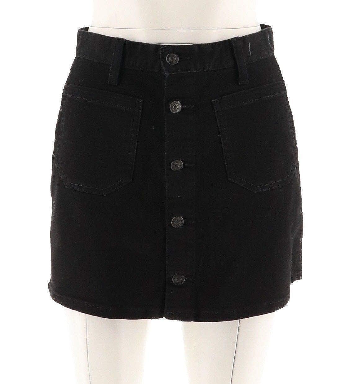 3571b991a0 Denim & Supply Ralph Lauren Womens Button-Front Denim Skirt (Black ...