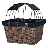 Travelin K9 2019 Pet-Pilot Wicker MAX - Dog Bicycle Basket Bike Carrier- Includes Wire Top with Sun Shade