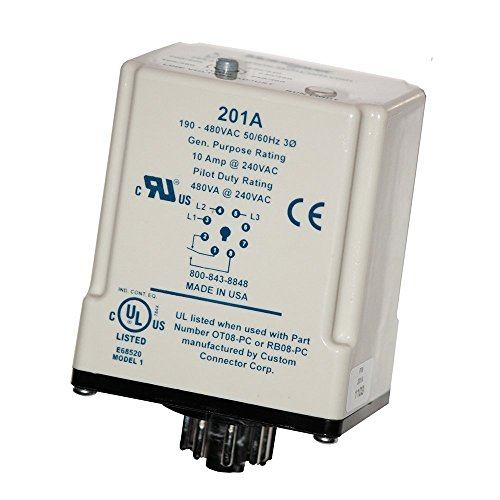 SymCom MotorSaver 3-Phase Voltage Monitor Model 201A, 190-480V, 8-Pin Octal (Octal Base)