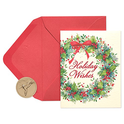 Papyrus Wreath Boxed Holiday Cards, - Holiday Card Joy Boxed