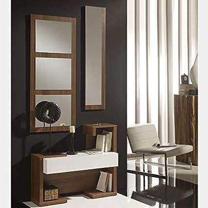 Mobile da ingresso L x P x A 40 x 33 x 188 cm colore quercia Marchio  -/Movian Deva