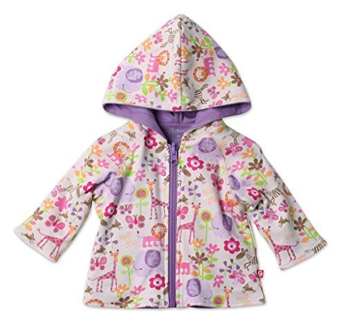 Zutano Reversible Hoodie Jacket- Lions Lullaby, 24 - Cotton Blankets Zutano