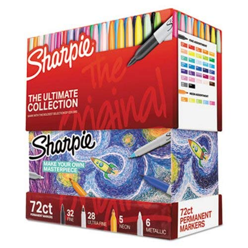 Sharpie Permanent Markers Ultimate Collection, Assorted, 72 Pcs (SAN1983254) ()