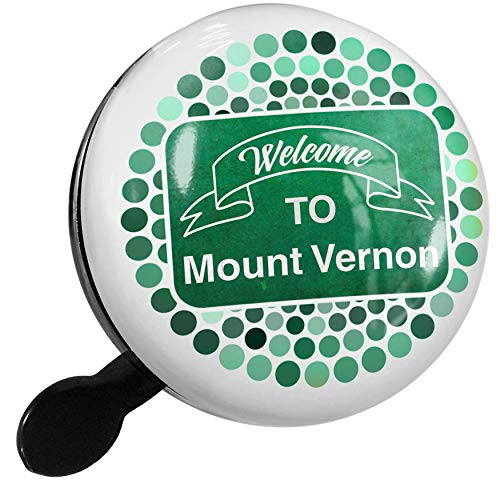 NEONBLOND Bike Bell Green Sign Welcome to Mount Vernon Scooter or Bicycle Horn