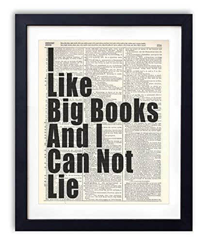 amazon com i like big books typography vintage dictionary art print 8x10 handmade