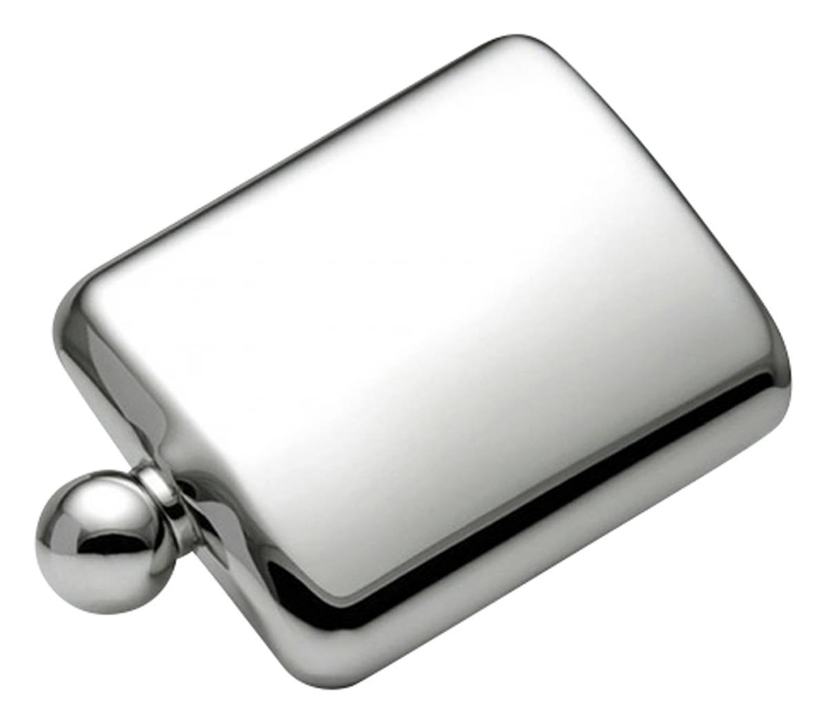 Silver Ball Cap 6oz Hip Flask by Orton West