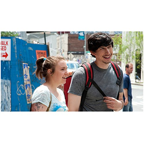 Adams Backpack (Girls (TV Series 2012 - ) 8 Inch x10 Inch Photo Lena Dunham White Tee Shirt & Adam Driver Grey Tee Shirt & Backpack kn)