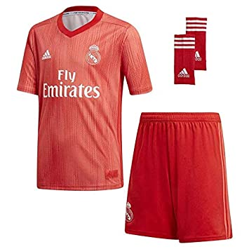 Adidas Kit - Personalizable - Tercera Equipación Original Real Madrid 2018/2019: Amazon.es: Deportes y aire libre