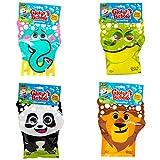 Glove-A-Bubbles 4 Pack: 1 Elephant, 1 Lion,1 Panda, 1 Alligator
