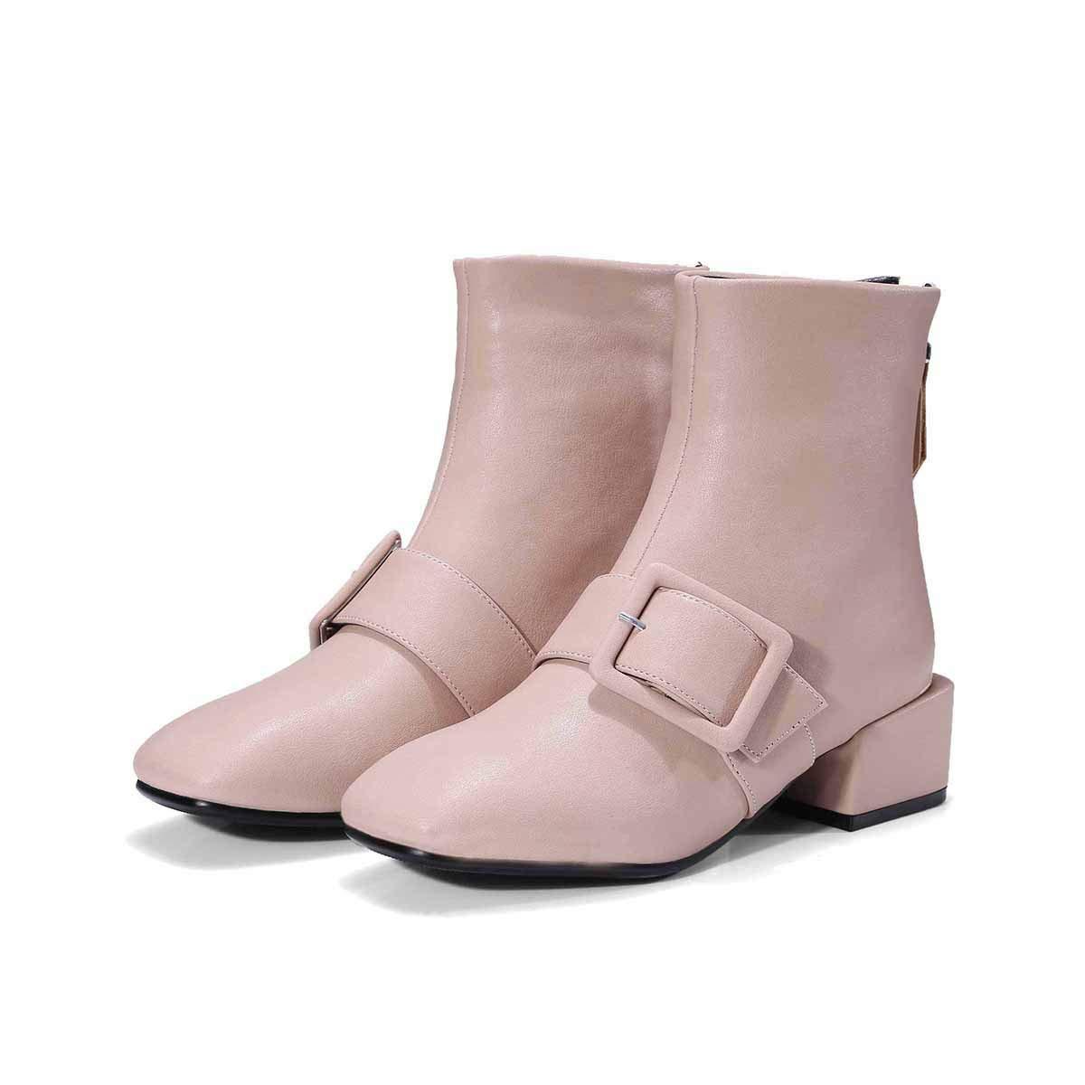 Stiefel  Stiefeletten mit mittelhohem mittelhohem mittelhohem Absatz  Europa und die Vereinigten Staaten und quadratischer Kopf mit Stiefeletten 7a1676