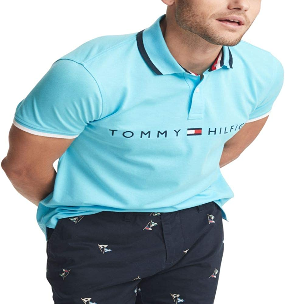Tommy Hilfiger Mens Flag Pride Polo Shirt in Custom Fit