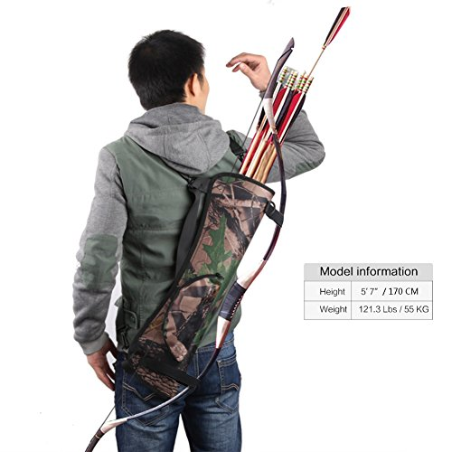 Pellor Outdoor Hunting Training Camo Archery Arrow Holder Bow Belt Quiver Strap Back Side Waist Hanging