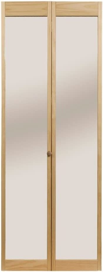 "LTL Home Products 890730 Traditional Mirror Bifold Interior Wood Door, 36"" x 80"" Unfinished, 36""X80"""
