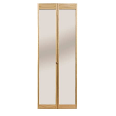 Pinecroft 890726 Traditonal Mirror Bifold Interior Wood Door 30 X