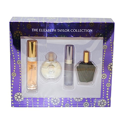 Elizabeth Taylor Fragrance Collection 4-Piece Set for Women (White Diamonds, Forever Elizabeth, Violet Eyes, Passion)
