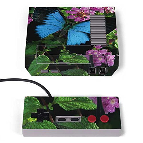 On Edition Photography - Skinit Animal Photography NES Classic Edition Skin - Ulysses Butterfly Lands On Pink Flowers Design - Ultra Thin, Lightweight Vinyl Decal Protection
