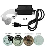 Sink Top Air Switch Kit, Garbage Disposal Part Built-Out Adapter Switch (WHITE) by Cleesink