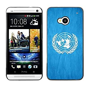 Shell-Star ( National Flag Series-United Nations ) Snap On Hard Protective Case For HTC One (M7)