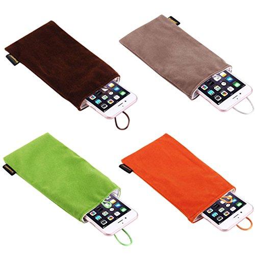 Mobile Phones & Accessories - Universal 5 5 Inch Phone Power Bank Electronic Storag Velvet Bundle Pocket Flannel Bag - Velvety Telephone Suitcase Soft Call Handbag Smooth Earpiece Purse - 1PCs