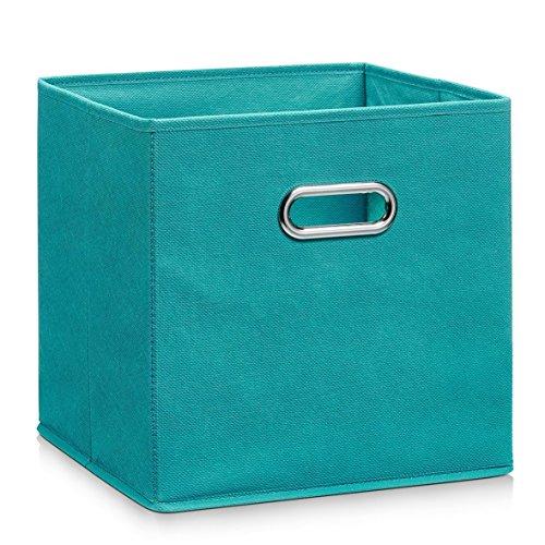 Schrankkorb Regalkorb Stoffbox Vlies 32x32x32cm für IKEA Kallax expedit Dröna in verschiedenen Farben petrol
