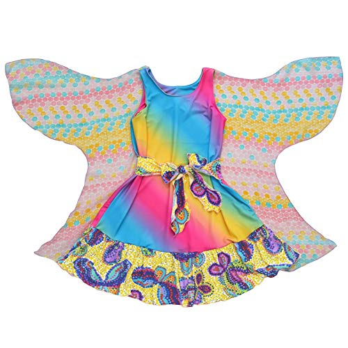 Twirly Girls Party Clothes Unique Fairy Dress Wings Rainbow Butterflies USA Made