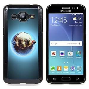 GIFT CHOICE / Teléfono Estuche protector Duro Cáscara Funda Cubierta Caso / Hard Case for Samsung Galaxy J2 / J200 // Skull Ecological Catastrophe Earth Consumption //