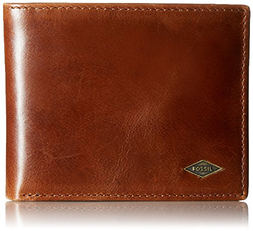 Fossil Men's RFID Flip ID Bifold Wallet, Dark Brown, One
