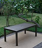 Crafted from beautiful & durable mahogany wood, the alfresco dining table is built for Casual open air dining. Feature an umbrella hole & finished with gray polyurethane finish to accentuate style & comfort