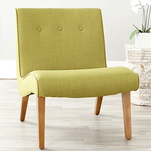 Safavieh Mercer Collection Owen Mid-Century Modern Green Lounge Chair (Armless Club Chair)