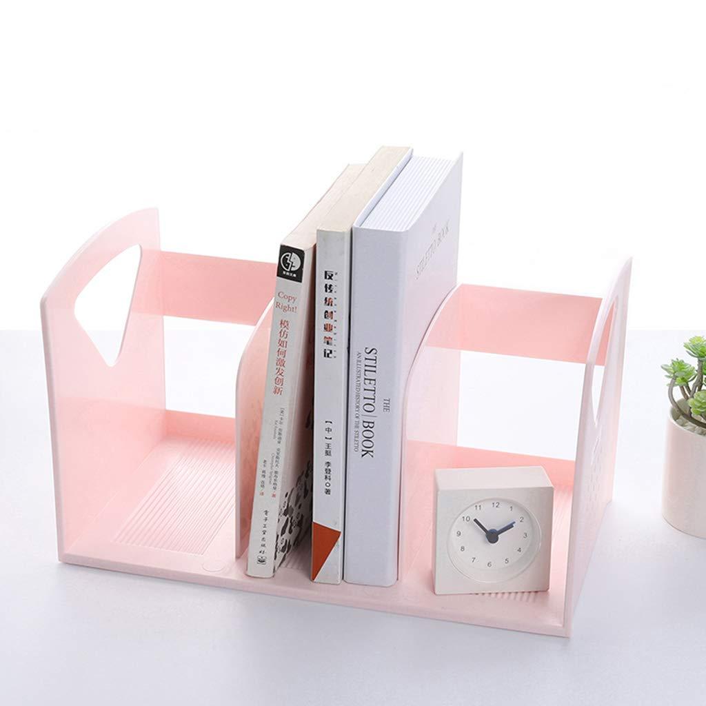 WJF Office Desk-Dateikorb Desktop Dateihalter Buch Aufbewahrungsbox Creative Student Buchstütze Büro Datei A4 Finishing Box Kunststoff (Farbe    2) B07PB9XX5B   Won hoch geschätzt und weithin vertraut im in- und Ausland vertraut