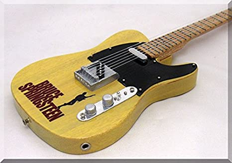 BRUCE SPRINGSTEEN Miniatura Guitarra Fender Telecaster 2: Amazon ...