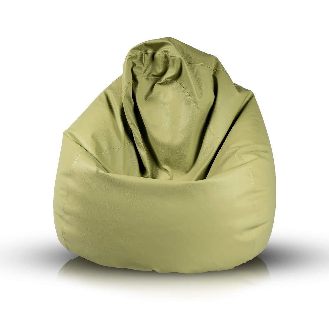 Riempimento Necessario: 200L 110x80 cm Ideale per Adolescenti e Adulti Realizzata in Ecopelle Fuzzy Pouf Cover Arancione E4