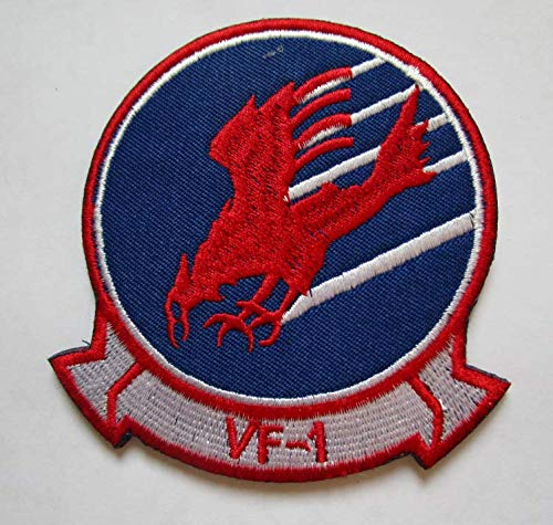 TOP Gun Movie Maverick Goose Cougar VF-1 Military Patch Fabric Embroidered Badges Patch Tactical Stickers for Clothes with Hook & Loop ()