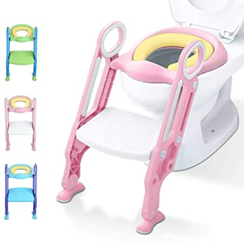 Surprising Potty Training Seat With Step Stool Ladder For Kids Children Adjustable Toddler Baby Toilet Training Seat Spiritservingveterans Wood Chair Design Ideas Spiritservingveteransorg