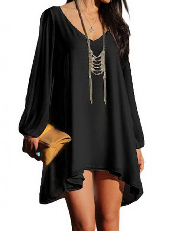robe courte fluide manche longue mod les populaires de robes de soir e. Black Bedroom Furniture Sets. Home Design Ideas